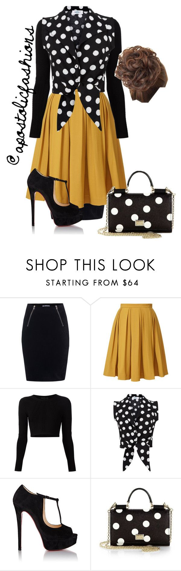 """Apostolic Fashions #1095"" by apostolicfashions on Polyvore featuring T By Alexander Wang, Orla Kiely, Cushnie Et Ochs, Christian Louboutin, Dolce&Gabbana, women's clothing, women, female, woman and misses"