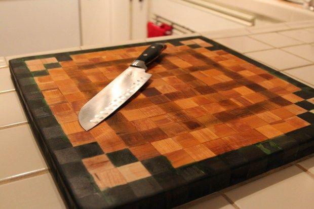 #DIY Minecraft Workbench Cutting Board