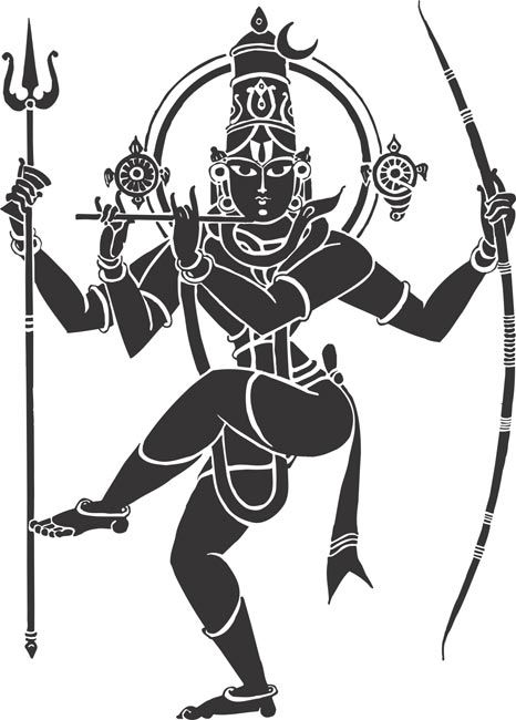 indian_hindu_god_lord_siva_natarajar_krishna_vishnu_kanna_thanjavur_arts_drawing_vector_cliparts.jpg (466×650)