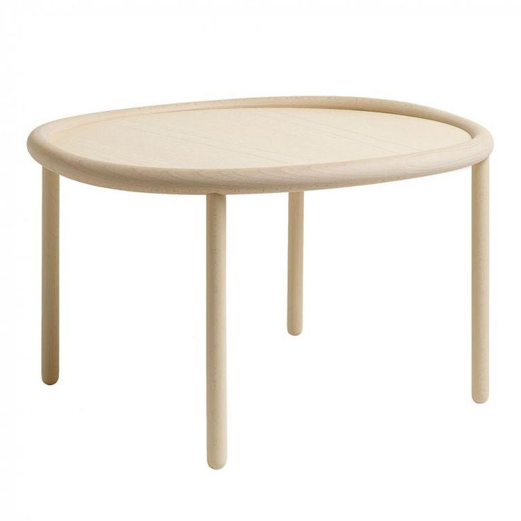 Serve Table Large Natural Top / Natural Legs Soffbord | Wrong for HAY | Länna Möbler | Handla online
