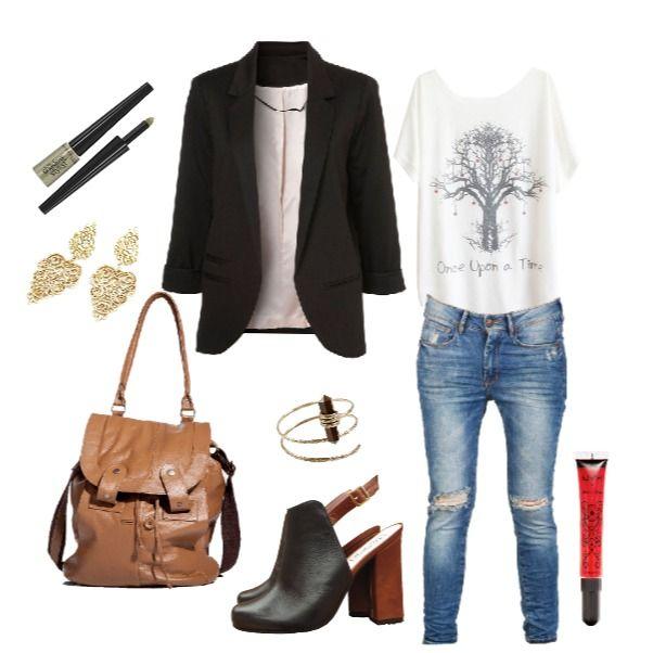 Outfit Entre el weekend y la oficina findesemana, oficina, trabajo, tshirt, boyfriend, botines, camel, fashion, comoda, casual en Colombia