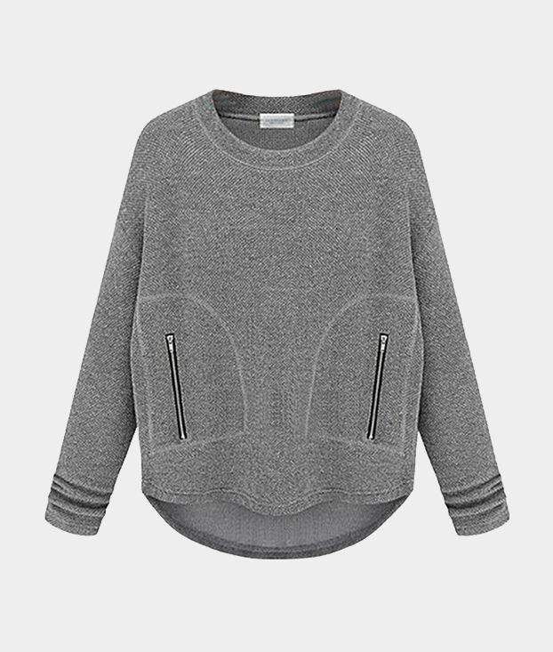 Grey sweatshirt // Choies