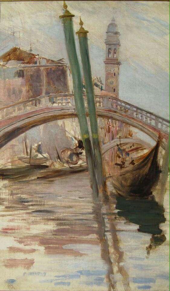 """Giovanni Boldini (Italian, 1842-1931) """"Rio di Venezia - Campanile dei greci"""" 1895"""
