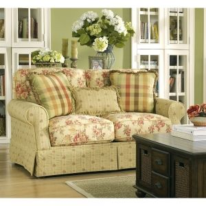 french cottage furniture | ... Room » Living Room Furniture » Loveseats » Ella - Spice Loveseat
