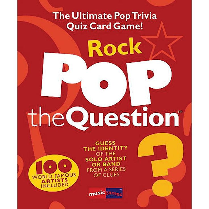 Music Sales Pop The Question Rock - The Ultimate Pop Trivia Quiz Card