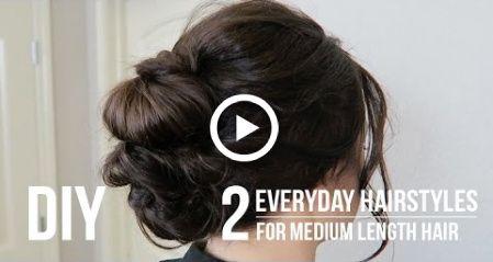 DIY | 2 Alltagsfrisuren für mittellanges Haar