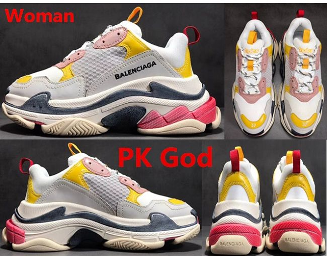 d56f601c226e2 Cheapest place to buy Balenciaga Triple S Trainer sneakers White yellow  pink original PK God legit check review factory store outlet for sale 2018