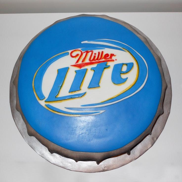 miller lite bottle cap cake - Google Search