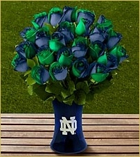 For my Birthday!!! Hint, hint ;) The FTD ® Notre Dame ® Fighting Irish™ Rose Bouquet - VASE INCLUDED