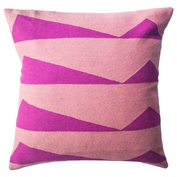 Tropical Palm Springs Hot Pink Hand Embroidered Modern Throw Pillow... ($152) ❤ liked on Polyvore featuring home, bed & bath, bedding, pink, hot pink bedding, pink flamingo bedding, pink bedding, embroidered bedding and embroidery bedding