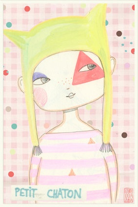 Petit chaton postcard by izumiIdoiaZubia on Etsy, €4.00