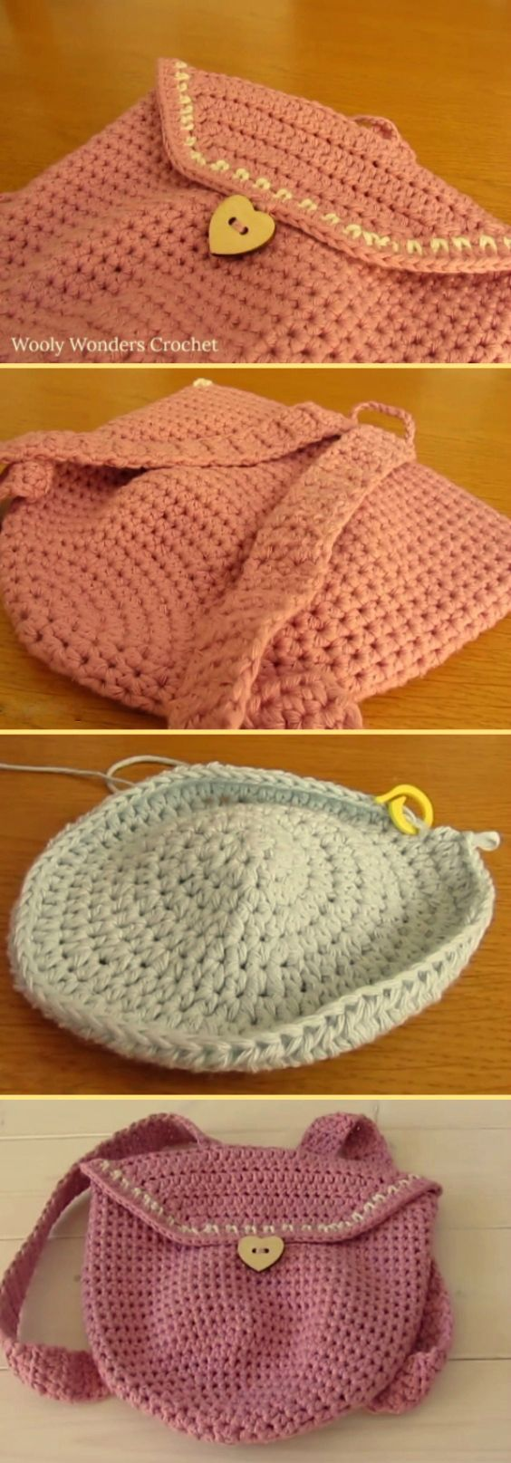 This step by step tutorial will show you how to crochet a mini backpack / bag / purse. This backpack is suitable for beginners