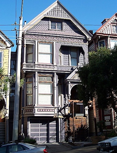 Former Grateful Dead House on Ashbury St. San Francisco  - (Also near John Grant's place summers when he was teaching at Berkeley. ak) ~Repinned Via Nancy Davis