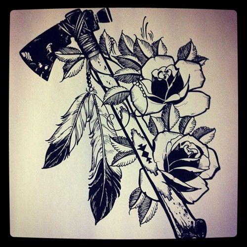 Tomahawk.. Native American tattoo!!!!