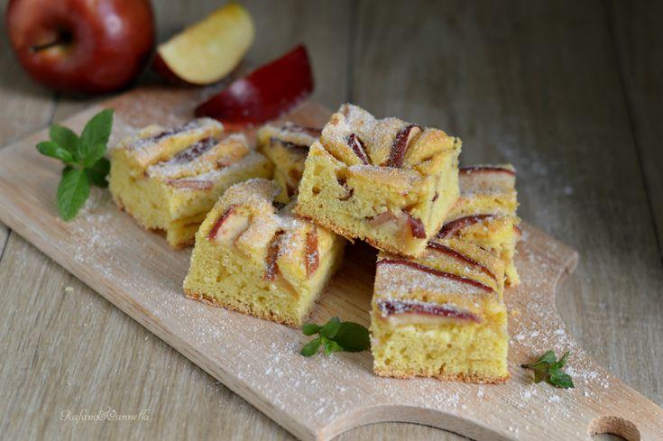 Torta+di+mele+bassa+e+soffice