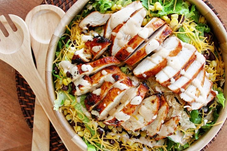 #BBQ #Chicken #Salad with #Creamy #BBQ #Dressing 15 #Powerful #Meat #Salads | All #Yummy #Recipes