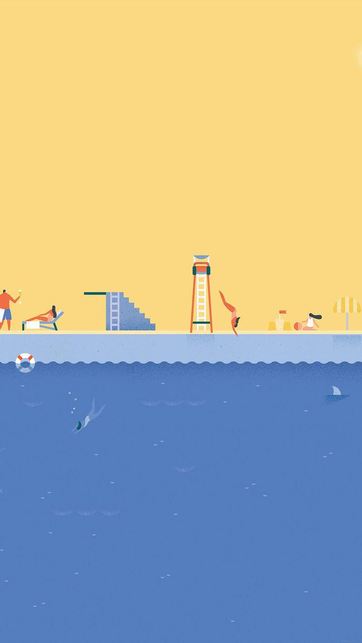 nice google-lollipop-june-swim-illust-art-iphone6-plus-wallpaper