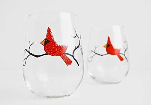 Cardinal Wine Glasses Set of Two Stemless Wine Glasses https://amzshark.com/r/cardinal-stemless