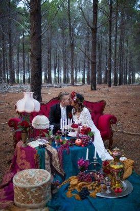 Jewel Toned Bohemian Wedding Ideas www.MadamPaloozaEmporium.com…
