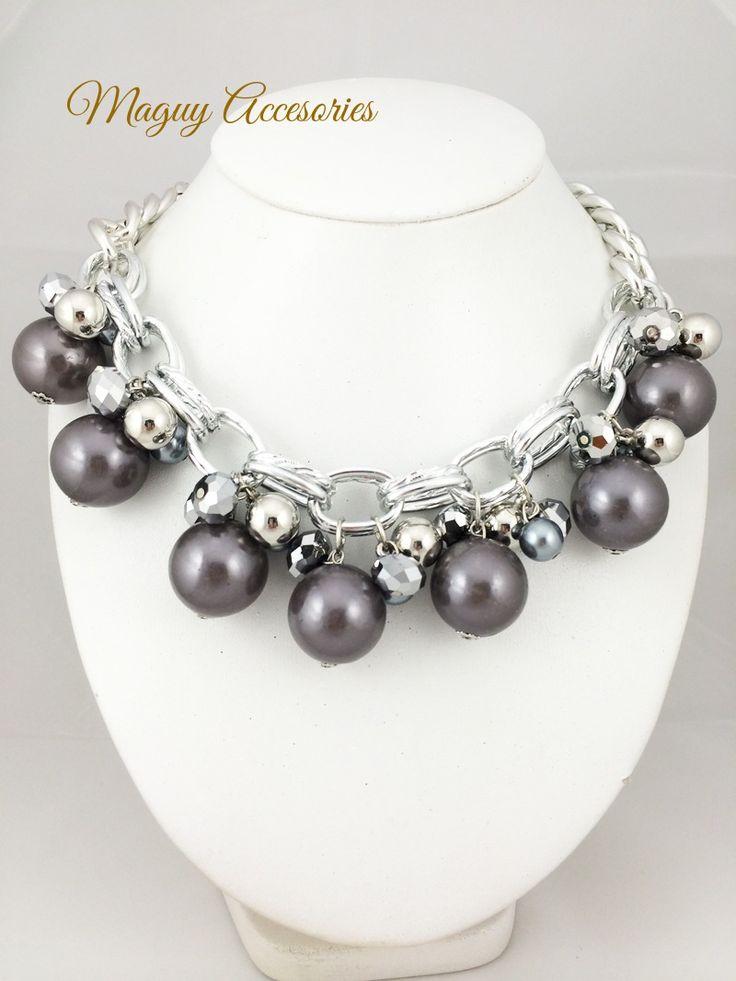 Collar Black pearl Precio Pùblico $299 Código 1180 Incluye aretes www.margori.com