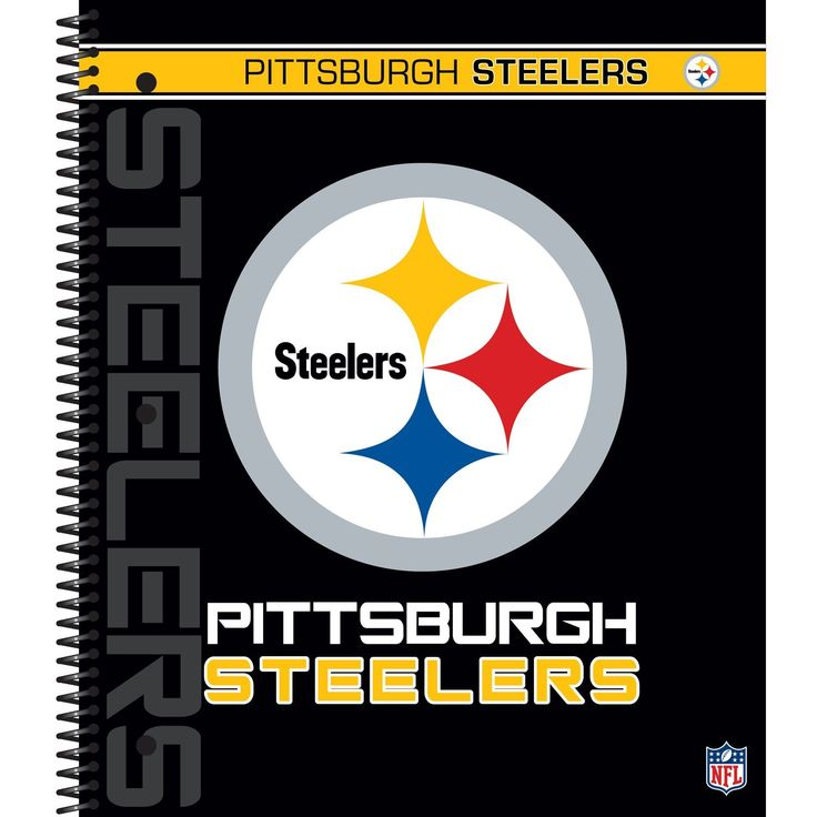 Superb Amazon.com : C.R. Gibson 5 Subject Spiral Notebook, Pittsburgh Steelers  (N940987WM