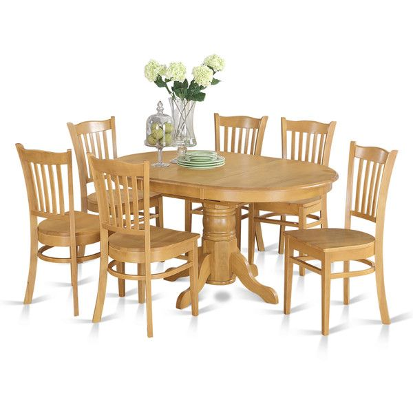 7 piece Formal Oval Dinette Table with Leaf and 6 Dining Chairs Oak  1 069Best 10  Oak dining sets ideas on Pinterest   High dining table  . Oak Dining Table And Chairs. Home Design Ideas