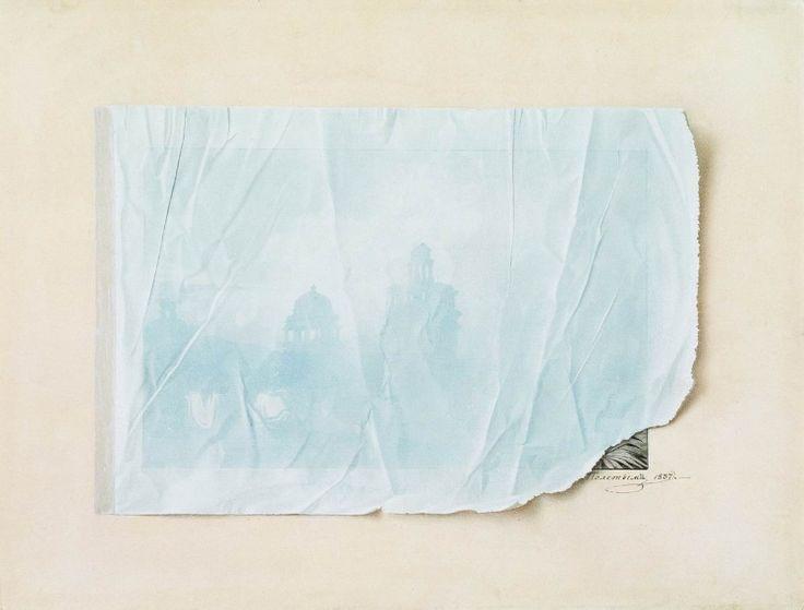 Федор Толстой. Архитектурный пейзаж под прозрачной бумагой. 1837 год