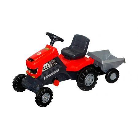 """Coloma Каталка с педалями Трактор  — 6924р. -------------------- Каталка с педалями """"Тракторс полуприцепом Turbo"""" красного цвета марки Coloma. Яркая каталка оснащена педалями ивыполнена из прочного пластика, а также дополнена небольшим прицепом для перевоза груза или любимых игрушек. Ребенок без труда будет управлять такой каталкой, благодаря удобным педалям с системой цепного привода и рулю с клаксоном. Модель с широкими и большими колесами позволит передвигаться не только по асфальту или…"""