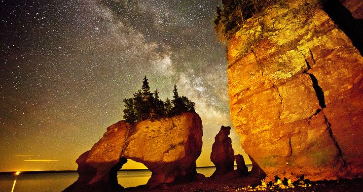 Hopewell Rock's night time beauty. Photo by Kevin Snair