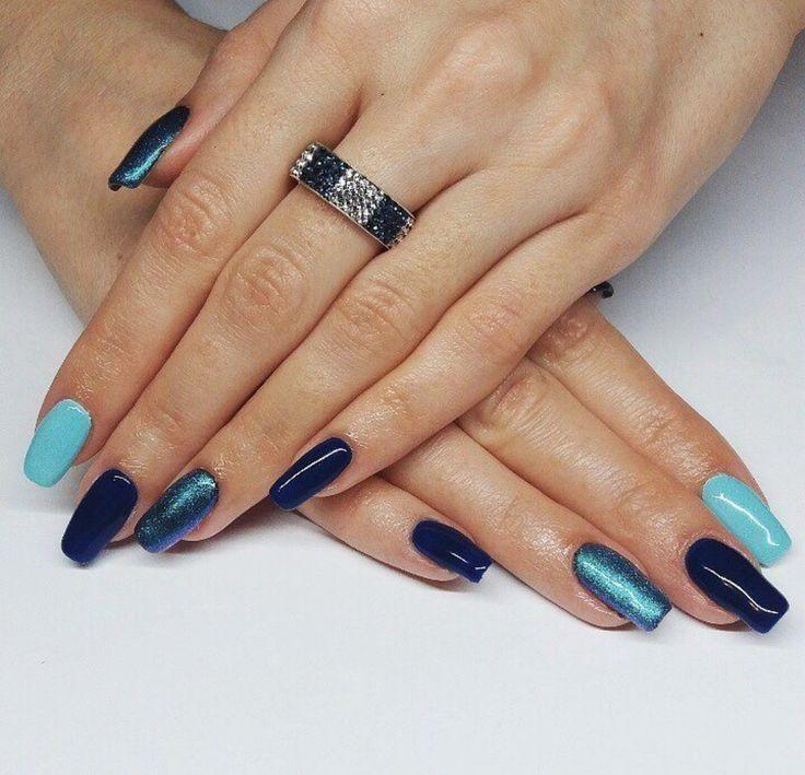 #beautiful #blue 💙 #nails