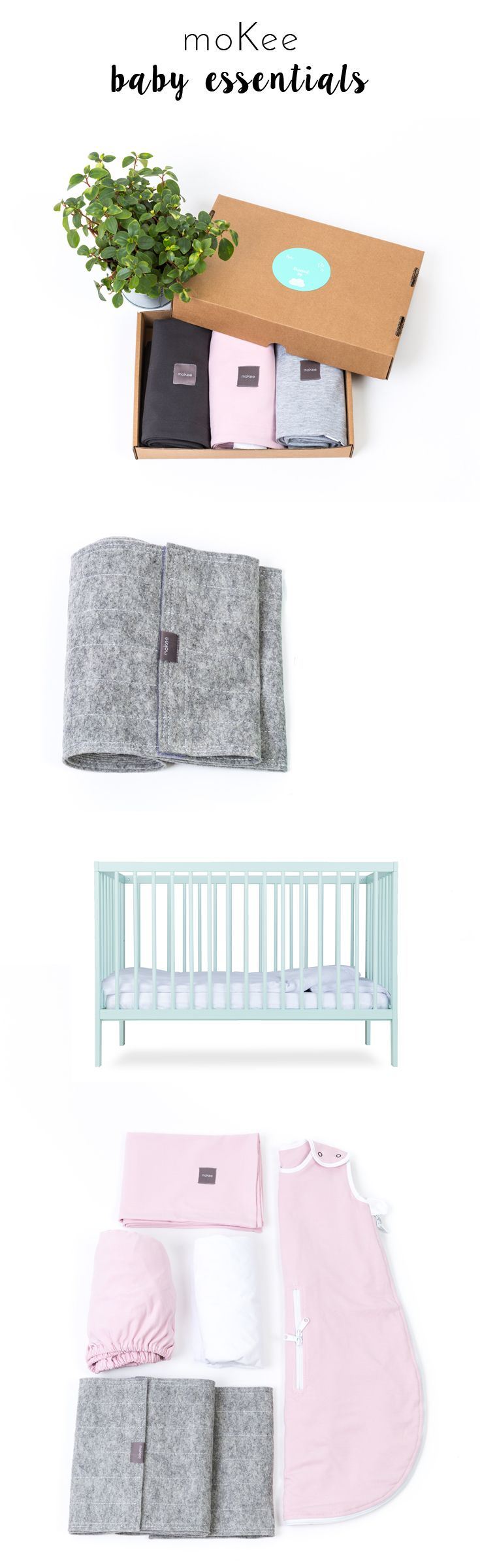 Making a Home for your Baby? All necessary products in one shop #babygear #babyessentials #bumper #cot #sleepingbag #mint #pink