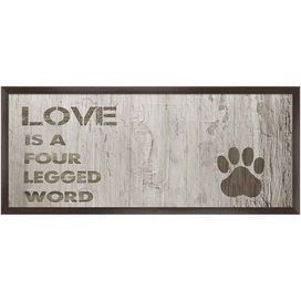 "Whether displayed on its own or as part of an eye-catching collage, this charming giclee print charms with a pet-themed typographic motif and paw print detail. Product: Framed wall artConstruction Material: Paper, MDF and polystyreneColor: Black frameDimensions: 4.5"" H x 10.5"" W x 1"" D"
