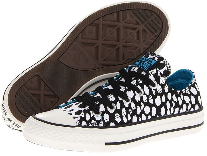 Converse Chuck Taylor All Star Animal Print Ox (Black/White) - Footwear on
