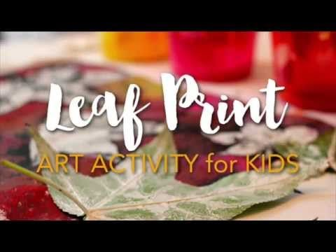 Fall Leaves Print-Making Activity & Video - Deep Space Sparkle