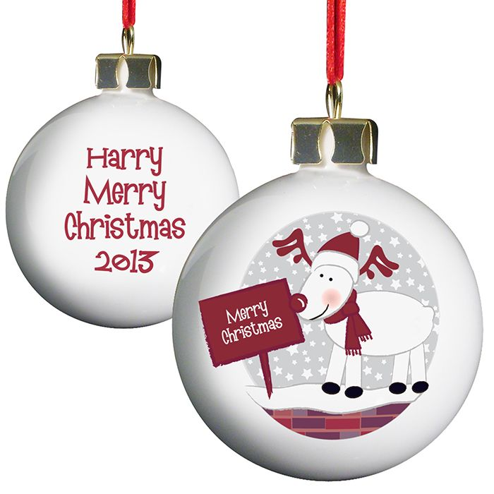 Personalised Rudolph Christmas Bauble
