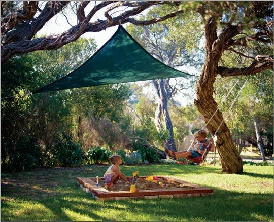 Install a Shade Sail for the Play Area