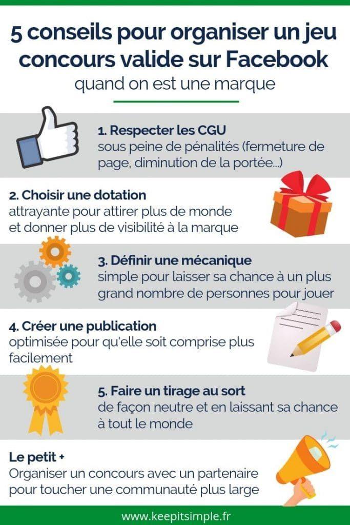 5 Conseils Pour Bien Organiser Un Jeu Concours Sur Facebook En Toute Legalite Jeu Concours Jeu Concours Facebook Concours