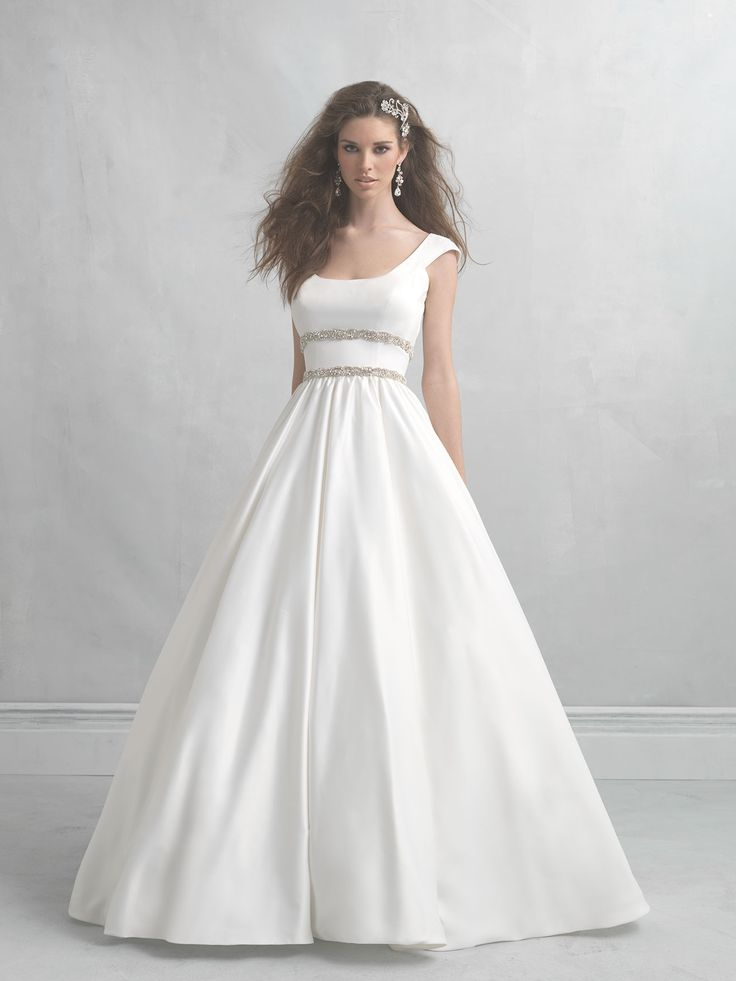 madison james style mj07 scoop neck wedding dress gown http
