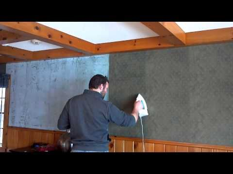 HOW TO: Remove Wallpaper  Money can be tight when it comes to home improvement, so an easy way to get rid of wallpaper without going out and buying products is...  Use your iron.