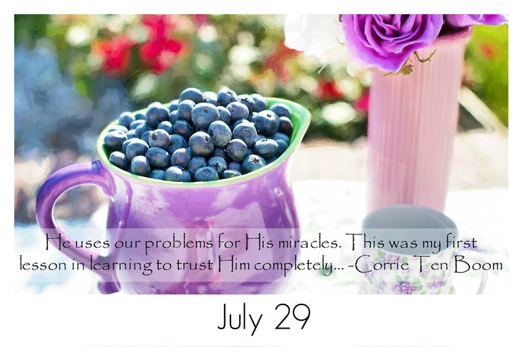 He uses our problems for His miracles. This was my first lesson in learning to trust Him completely. -Corrie Ten Boom