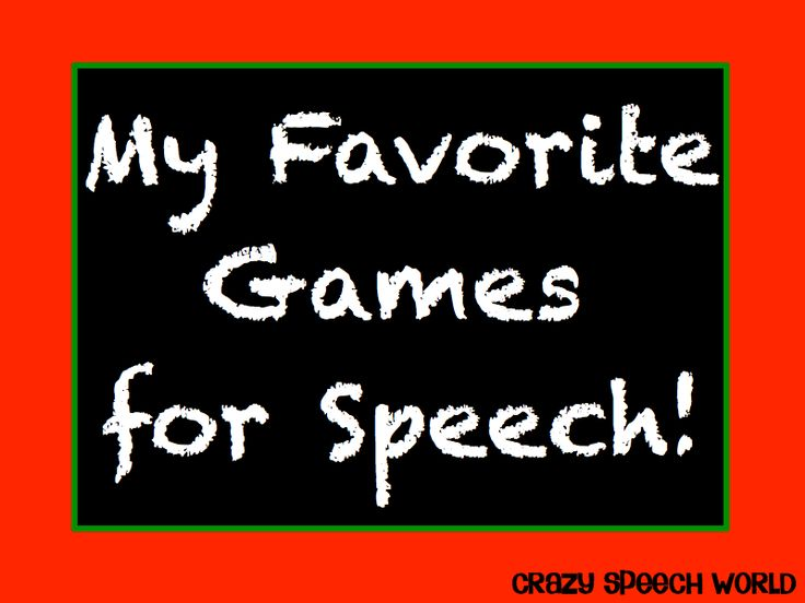 Board Games for Speech & Language!