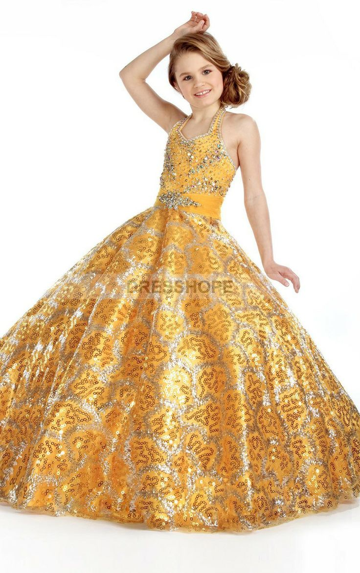 girls ball gowns size 14 grecian floor length princess halter sequined ball gowns for halloween costumes - Pageant Girl Halloween Costume