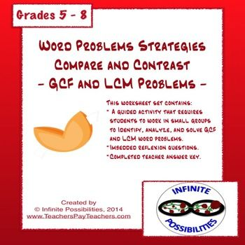 Printables Gcf And Lcm Word Problems Grade 4 1000 images about 6th grade gcflcm on pinterest number theory a great lesson to help kids distinguish between gcf and lcm word problems