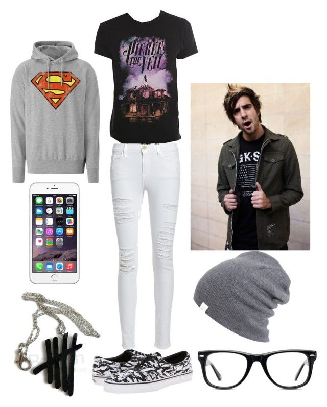 Mall With Jack Barakat by roxas-lightwood on Polyvore featuring polyvore, fashion, style, Logoshirt, Frame Denim, Vans and Muse