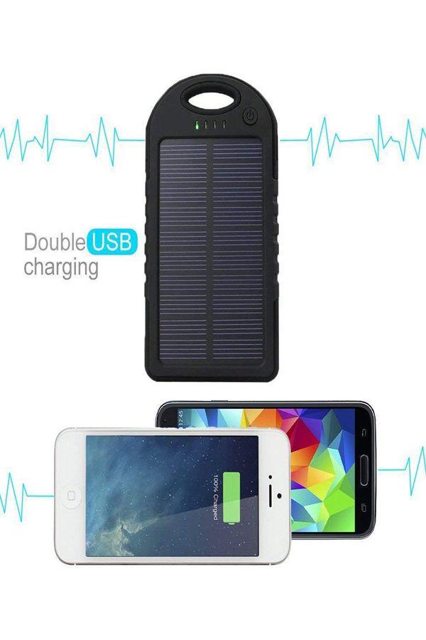 timeless design 3e438 bfacf WALLER PAA 300000mAh Portable Waterproof Solar Charger Dual USB ...