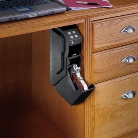 GunVault SpeedVault Gun Safe - Gander Mountain--- keeps your gun safe out of kids reach, but easy for you to get to in case of emergency!  Pretty sure my dad needs one!