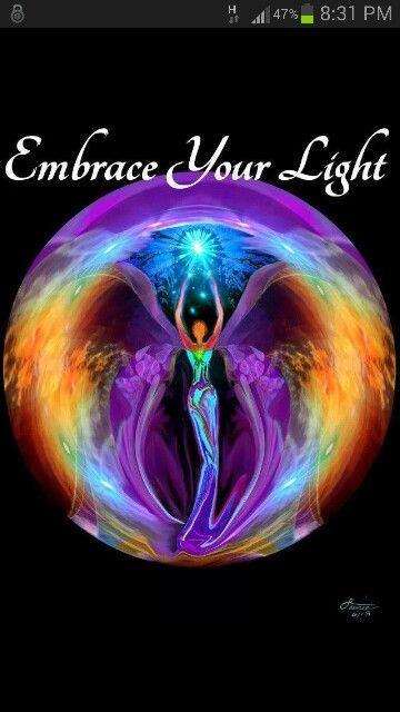 Embrace Light  Chakra Art Rainbow Reiki Energy Art Angel Healing - for a yarn dye color & 290 best Namaste.... Divine Light images on Pinterest | Blue ... azcodes.com