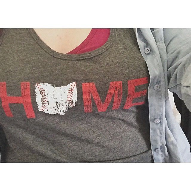 "Love it - She tanked it! In #mystatethreads... (Available in unisex & ladies razorback styles - Hop over to mystatethreads.com to ""tank"" yours!!) #tanktops #baseball #mlb ⚾️⚾️⚾️⚾️⚾️ http://mystatethreads.com/collections/ohio?page=6  #Repost from @serenitystrull. ••••• Tanked it.  #BeOhioProud #LoveYourState #CincinnatiReds #Home"
