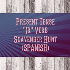 Let your kids go on a scavenger hunt around the school with this fun IR verb Spanish class Game!