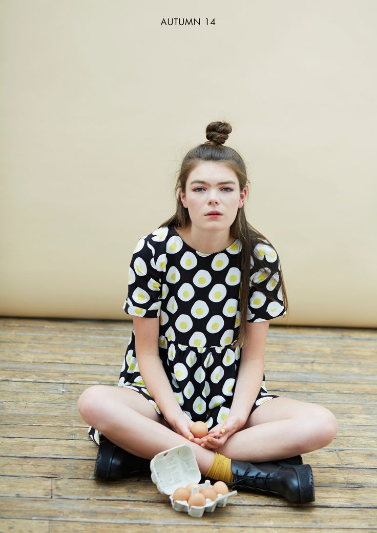 T-Shirt Smock Dress in Egg Print http://www.thewhitepepper.com/collections/dresses/products/t-shirt-smock-dress-in-egg-print #TWP